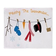 Frosty The Snowman Throw Blanket