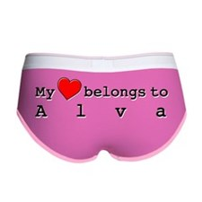 My Heart Belongs To Alva Women's Boy Brief
