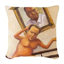 Leveson Inquiry: Murdochs Reve Woven Throw Pillow