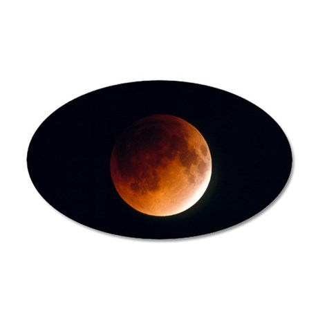 Total lunar eclipse, partial 35x21 Oval Wall Decal