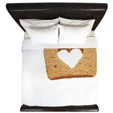 I Love Carbs (Vintage) King Duvet