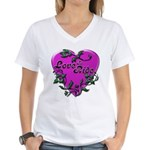 Biker Women's V-Neck T-Shirt