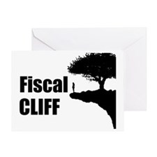 The Fiscal Cliff Greeting Card