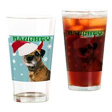 Naughty Border Terrier Drinking Glass