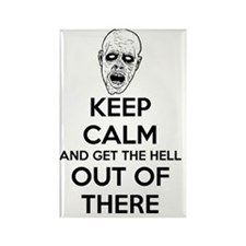 Keep Calm Zombies Rectangle Magnet