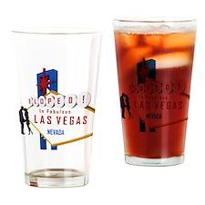 Eloped in Las Vegas Drinking Glass