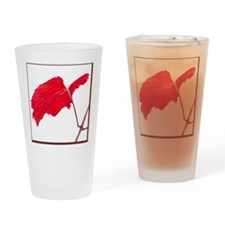 Red Grape Leaf Drinking Glass
