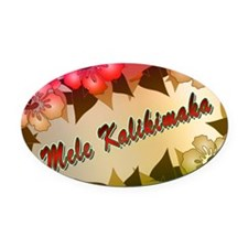 mele-yard-back Oval Car Magnet