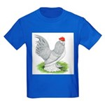 Self Blue Rooster Kids Dark T-Shirt