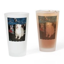 Caroling Ferret Drinking Glass