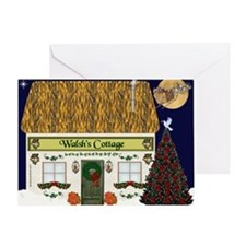 Walsh's Irish Cottage Christmas Cards (10) Greetin