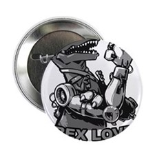 "T-Rex With Robot Arms 2.25"" Button"