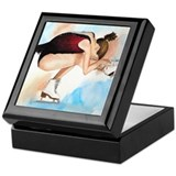 Ice Skater Sit Spin Keepsake Box
