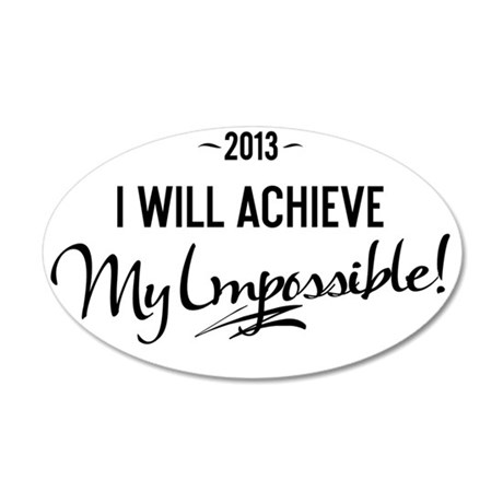 boxer short 2013 I will achi 35x21 Oval Wall Decal