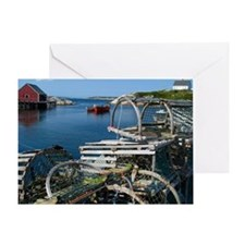 Bar Harbor Maine- sq.  Greeting Card