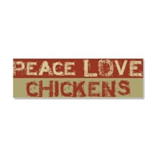 Cute Chickens Car Magnet 10 x 3