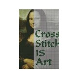 Cross Stitch IS Art Rectangle Magnet (100 pack)