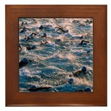 Triathlon swimmers Framed Tile