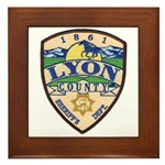Lyon County Sheriff Framed Tile