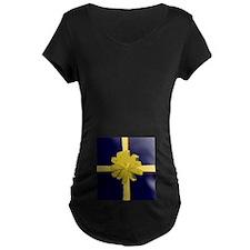 ChristmasPackageTEAL.jpg Maternity T-Shirt