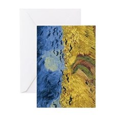 Van Gogh Wheatfield with Crows Greeting Card