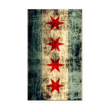 Chicago Flag Grunge Galaxy No Rectangle Car Magnet