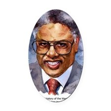 Thomas Sowell Sociology Oval Car Magnet