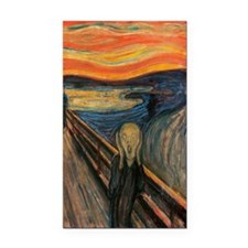The Scream Rectangle Car Magnet