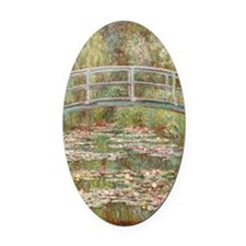 Monet Bridge over a pond of Water  Oval Car Magnet