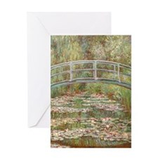 Monet Bridge over a pond of Water Li Greeting Card