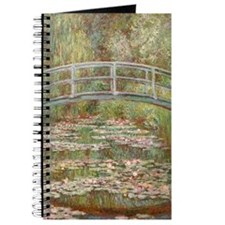 Monet Bridge over a pond of Water Lillies Journal
