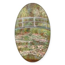 Monet Bridge over a pond of Water L Decal