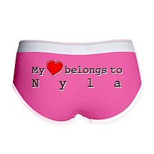 My Heart Belongs To Nyla Women's Boy Brief