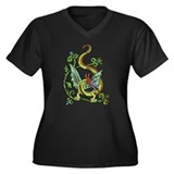Celtic Dragon 2 Women's Plus Size V-Neck Dark T-Sh