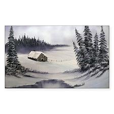 Snowbound Cabin Decal