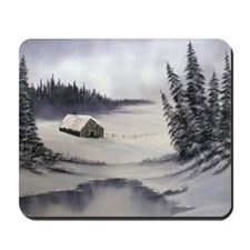 Snowbound Cabin Mousepad