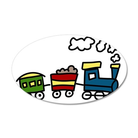 Choo-Choo Train 35x21 Oval Wall Decal