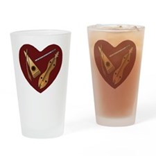 Heart of Music Jewelry Drinking Glass