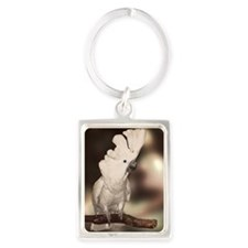 Umbrella Cockatoo Portrait Keychain