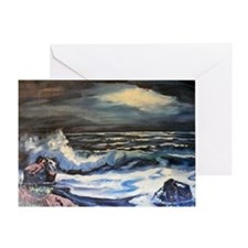 Night Surf Greeting Card