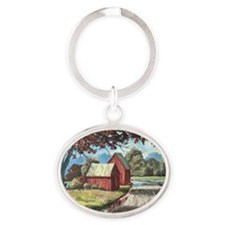 After the Rain Oval Keychain