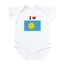 I love Palau Flag Infant Bodysuit
