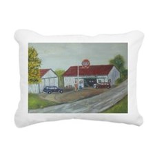 Earls Garage Rectangular Canvas Pillow