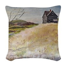 Old House Woven Throw Pillow