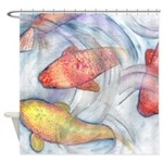Watercolor Carp Shower Curtain