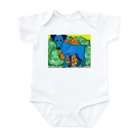 Blue Min Pin Infant Bodysuit