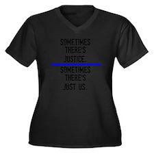 Justice Women's Plus Size Dark V-Neck T-Shirt