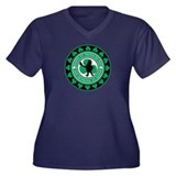 Happy St. Patrick's Day Women's Plus Size V-Neck D