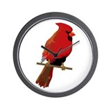 Male Cardinal Wall Clock
