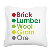 Settlers Resource Square Canvas Pillow